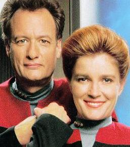 John as Q and Janeway
